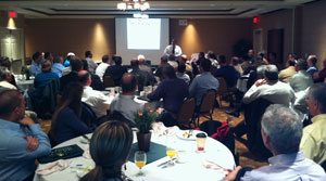 Dec. 13, 2011: Largest Breakfast attendance to date – 78 attendees – Speaker, Julio Alvarado, Assistant State Engineer, ADOT