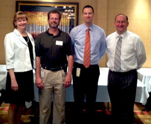 April 10, 2012: LtoR – Dawn Fortuna, Section Director; Jay Guertin, Section President; Shane Silsby (Speaker); Jason Pagnard, 1st VP