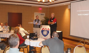 Jan. 10, 2012: Mark Chase, AZTEC Engineering (Speaker) and Tim Muller, Austin Bridge & Road (Speaker)