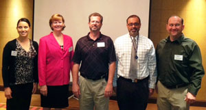 March 13, 2012: LtoR – Yung Koprowski, Section Director; Dawn Fortuna, Section Director; Jay Guertin, Section President; Dallas Hammit (Speaker); Jason Pagnard, 1st VP