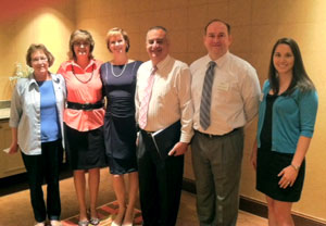 May 8, 2012: LtoR - Lisa Ruane, Section Director; Jeanne Sapon, Section Secretary; Dawn Fortuna, Section Director; Al Kattan, Speaker; Jason Pagnard, 1st VP;  Yung Koprowski, Section Director