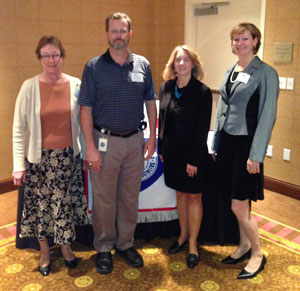Nov. 13, 2012: LtoR – Lisa Ruane, Section Director;  Jay Guertin, Past President;  Karla Petty, Speaker; Dawn Fortuna, Section Director